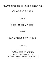 10th reunion cover sheet